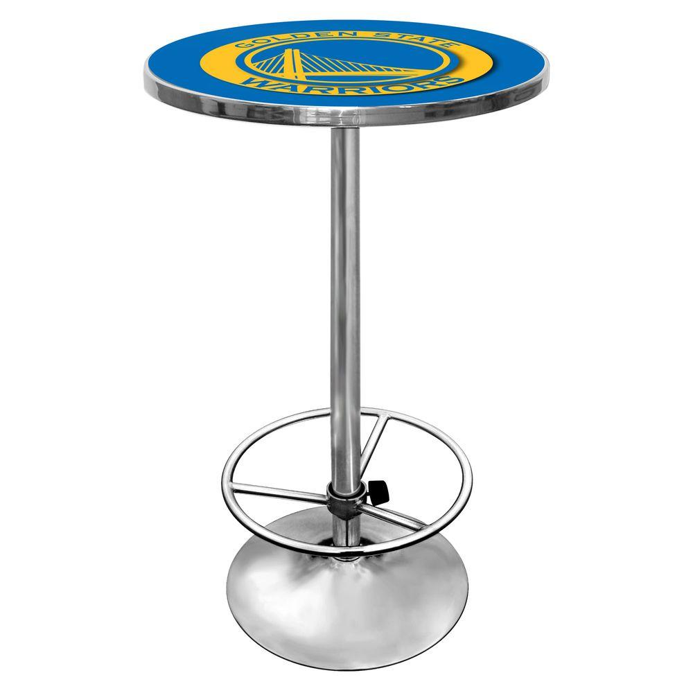 Trademark NBA Golden State Warriors Chrome Pub/Bar Table