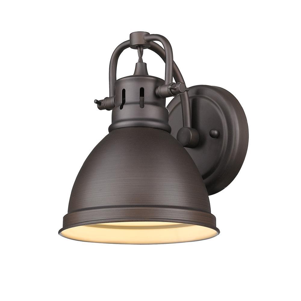 Duncan Rubbed Bronze 1-Light Bath Light