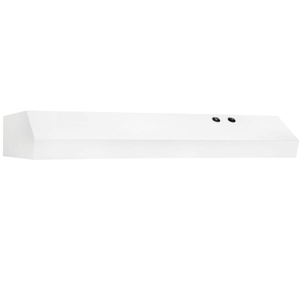 30 in. Under Cabinet Convertible Range Hood in White