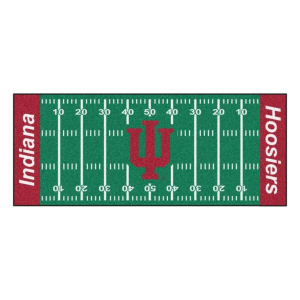 NCAA Indiana University 2.5 ft. x 6 ft. Football Field Runner Rug
