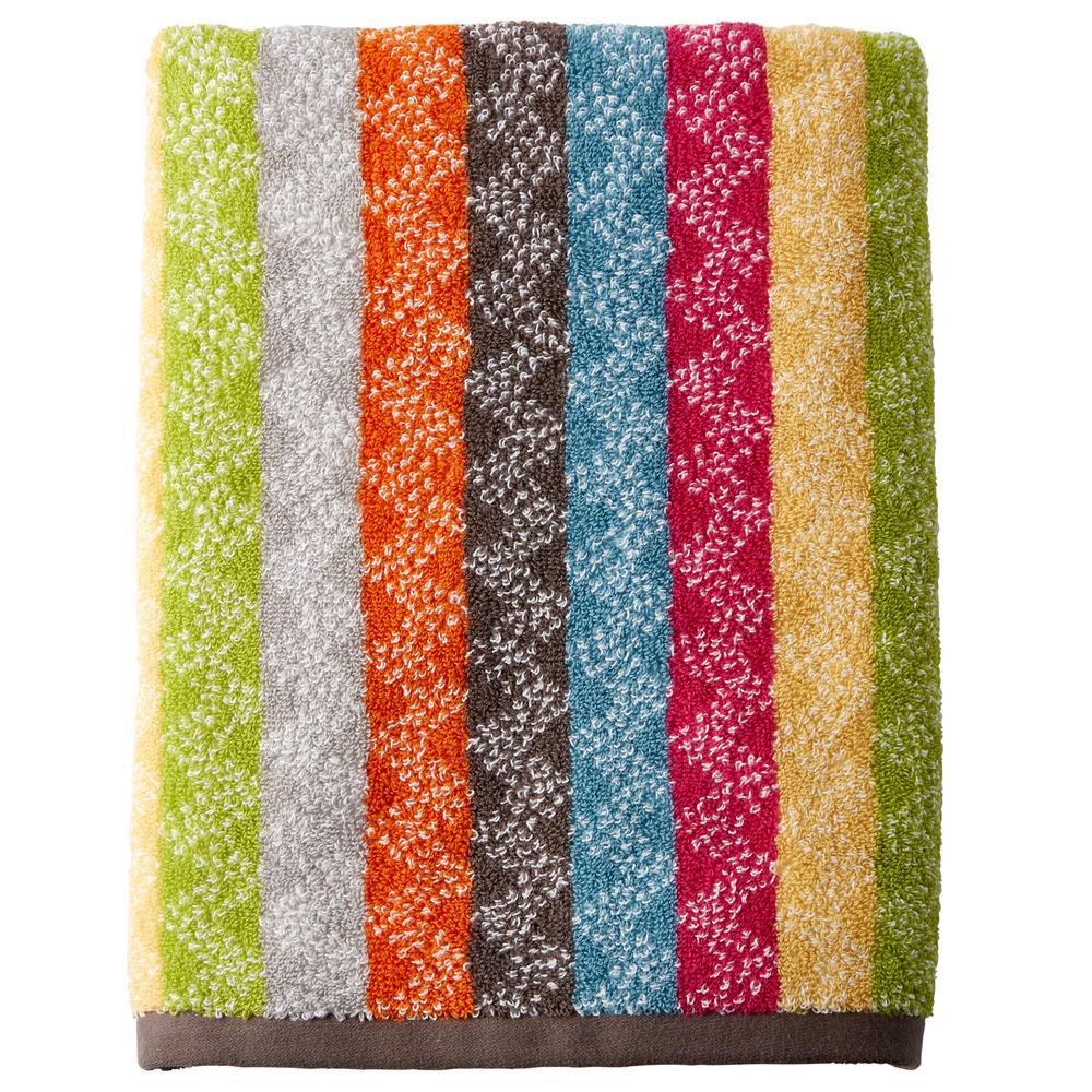 The Company Store Ribbons Cotton Single Bath Towel in Multi