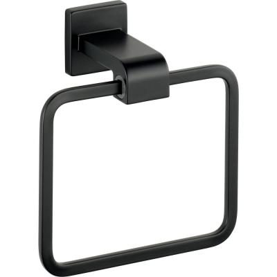 Ara Towel Ring in Matte Black