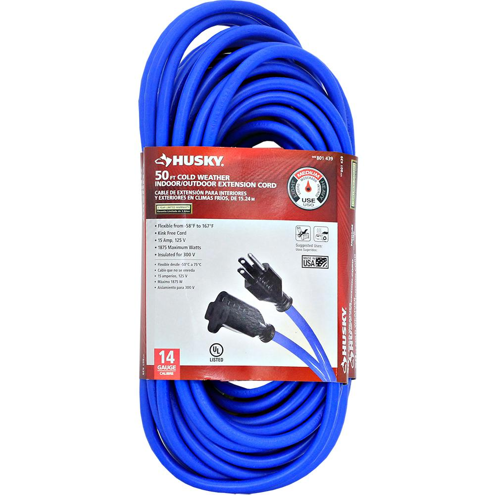 Product Extension Cords : Husky ft  ° cold weather extension cord