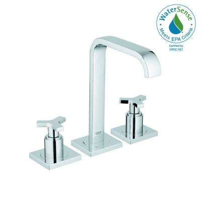 Allure 8 in. Widespread 2-Handle High-Arc Bathroom Faucet in StarLight Chrome