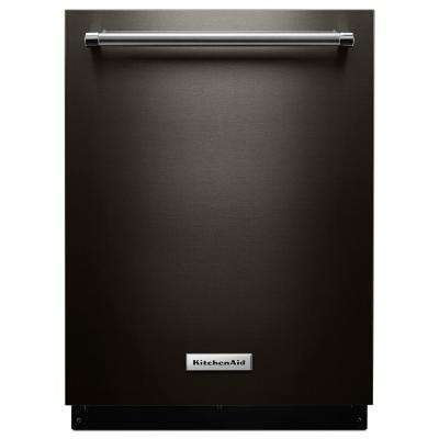 Top Control Built-In Tall Tub Dishwasher in Black Stainless with Third Level Rack