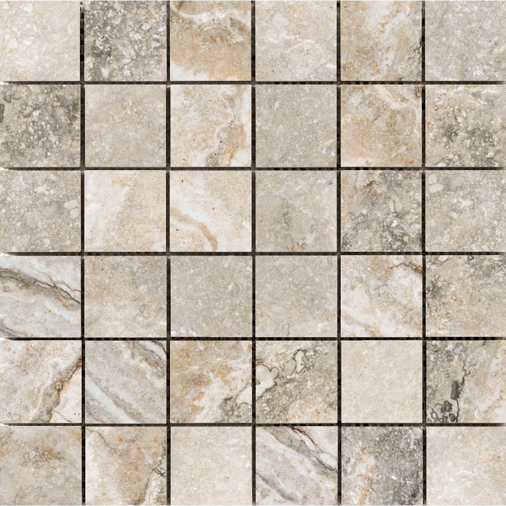 Emser Gateway Noce 12.99 in. x 12.99 in. x 10mm Porcelain Mesh-Mounted Mosaic Tile