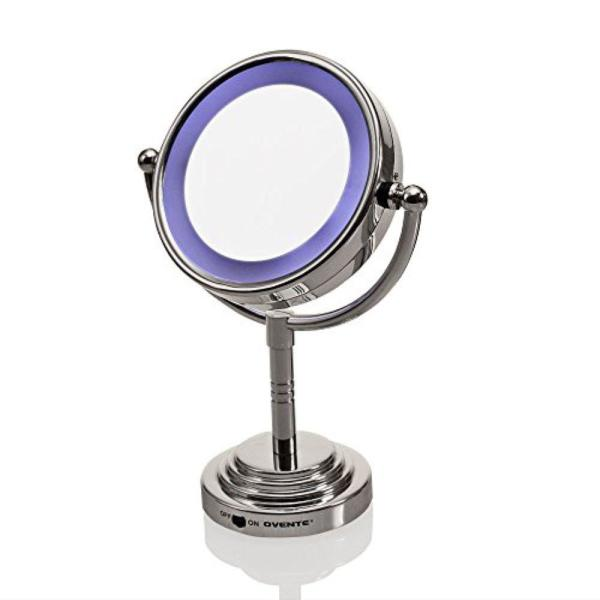 Ovente Battery Operated Lighted Makeup Mirror Mlt28c