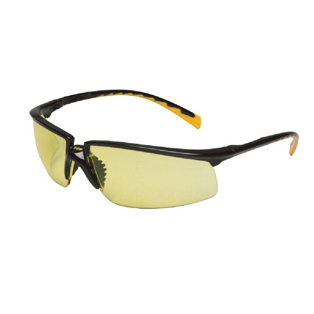 Holmes Workwear Black Frame with Yellow Anti-Fog Lenses Safety Glasses (Case