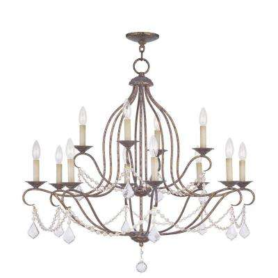 Providence 12-Light Venetian Golden Bronze Incandescent Ceiling Chandelier