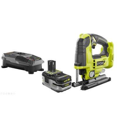 18-Volt ONE+ Cordless Brushless Jig Saw with 3.0 Ah LITHIUM+ HP Battery and 18-Volt Charger