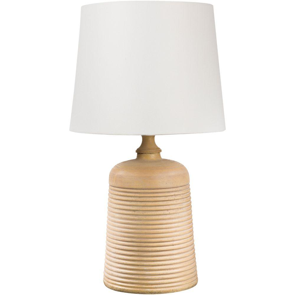 Barmin 23 in. Light Wood Tone Indoor Table Lamp