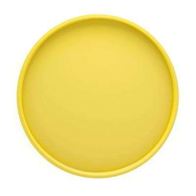 14 in. Round Serving Tray in Lemon