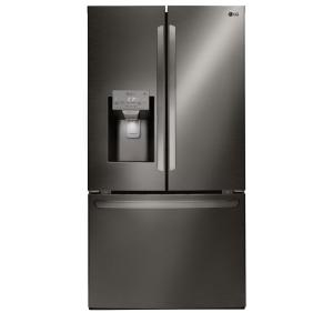 27.9 cu. ft. French Door Smart Refrigerator with WiFi Enabled in Black Stainless Steel