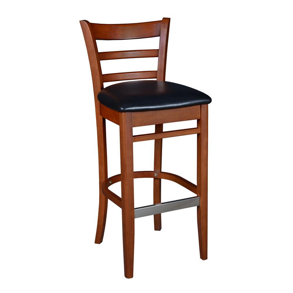 Regency Zoe 42 in. Cherry/Black Wood Caf Chair