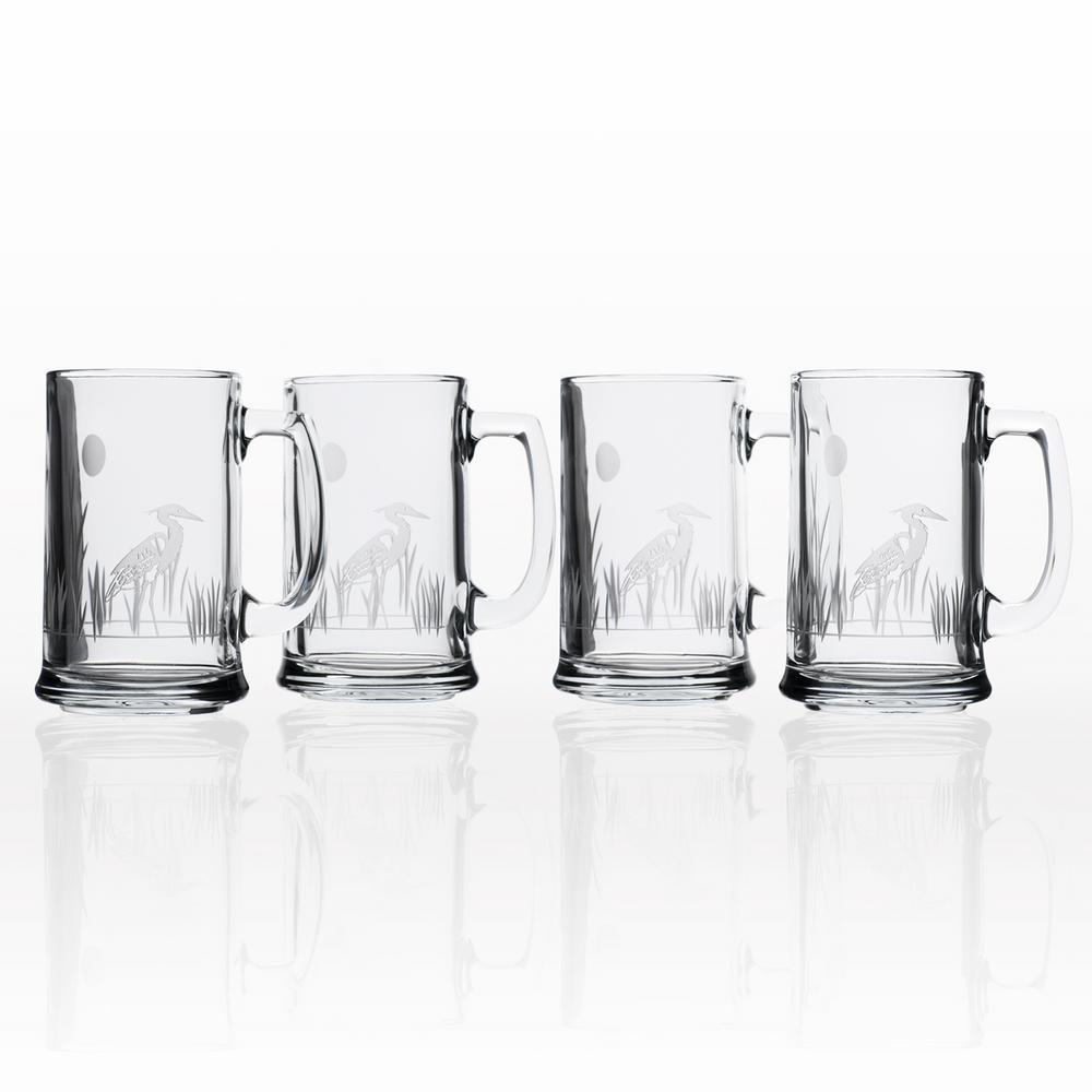 Heron 16 oz. Beer Mug (Set of 4)