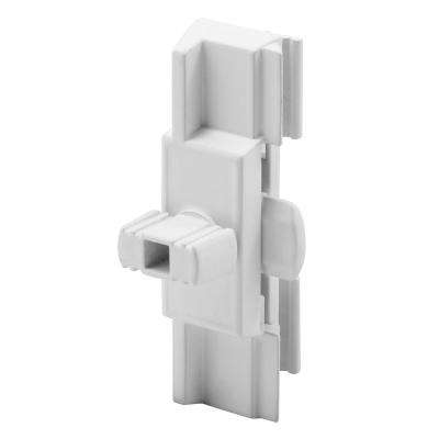 White Adjustable Window Latch and Pull with Night Lock