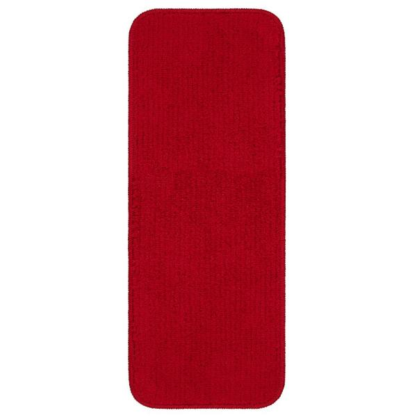 Softy Red 9 in. x 26 in. Rubber Back Stair Tread Cover (Set of 13)