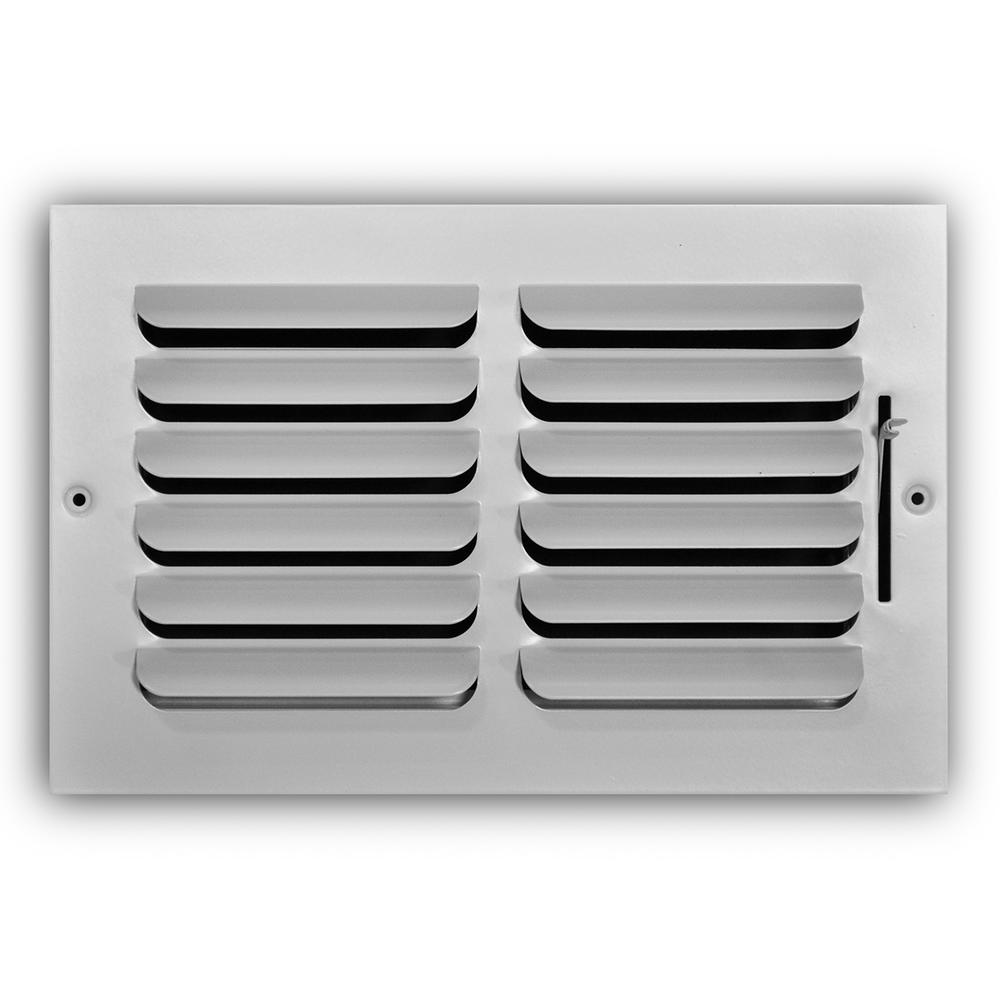 Everbilt 10 in. x 6 in. 1-Way Fixed Curved Blade Wall/Ceiling Register