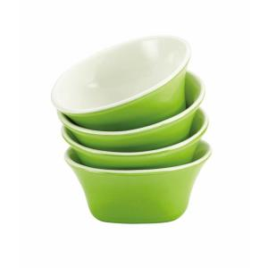 Rachael Ray Dinnerware Round and Square 4-Piece Stoneware Fruit Bowl Set in Green by Rachael Ray