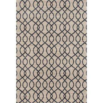 Modern Trellis High Quality Soft Cream 5 ft. 3 in. x 7 ft. 3 in. Area Rug