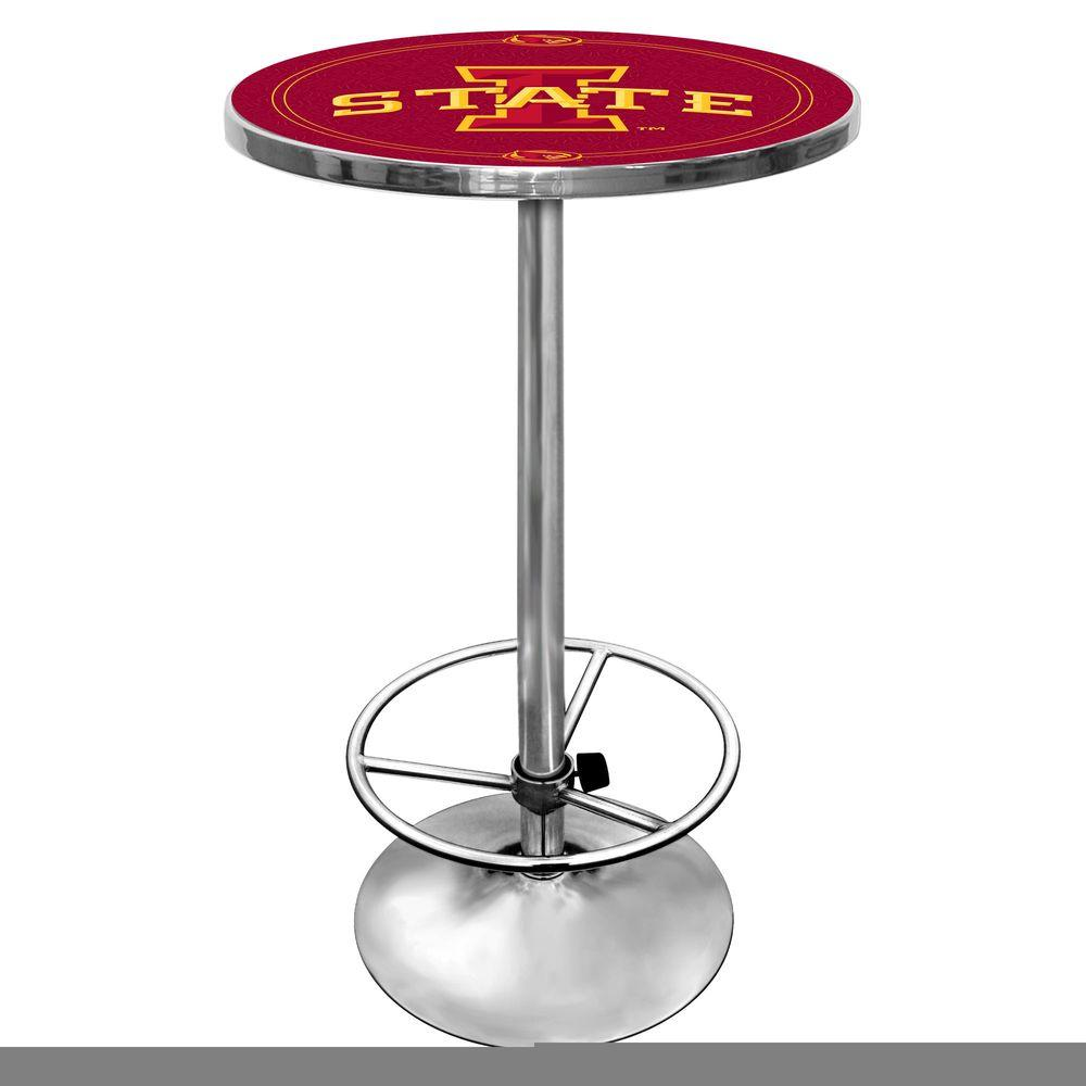 Iowa State University Chrome Pub/Bar Table