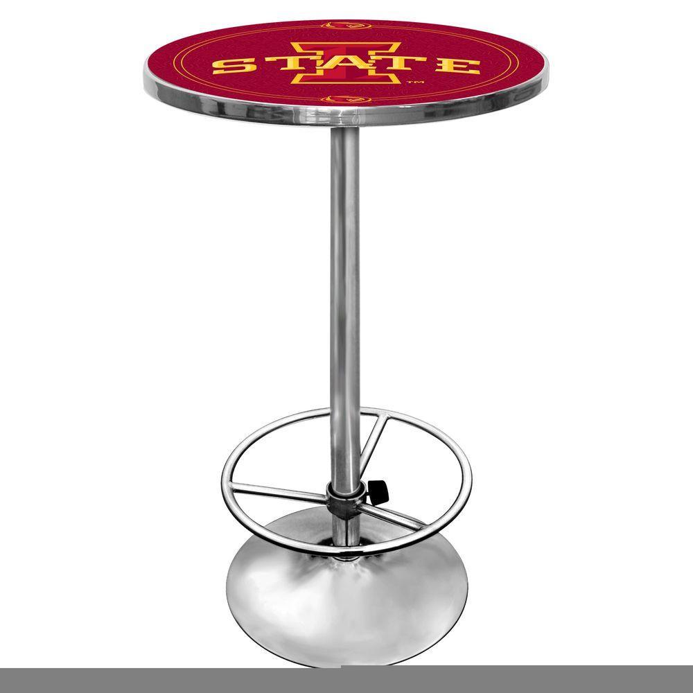 Trademark Iowa State University Chrome Pub/Bar Table LRG2000-IOSU