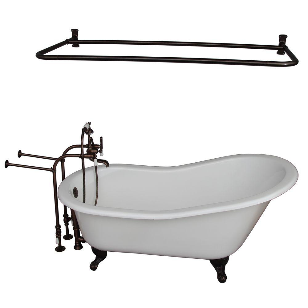 Barclay Products 5 6 Ft Cast Iron Ball And Claw Feet Slipper Tub In