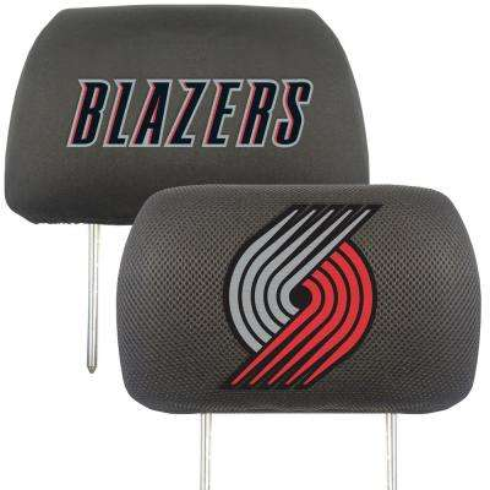 NBA - Portland Trail Blazers Mesh 13 in. x 10 in. Head Rest Cover