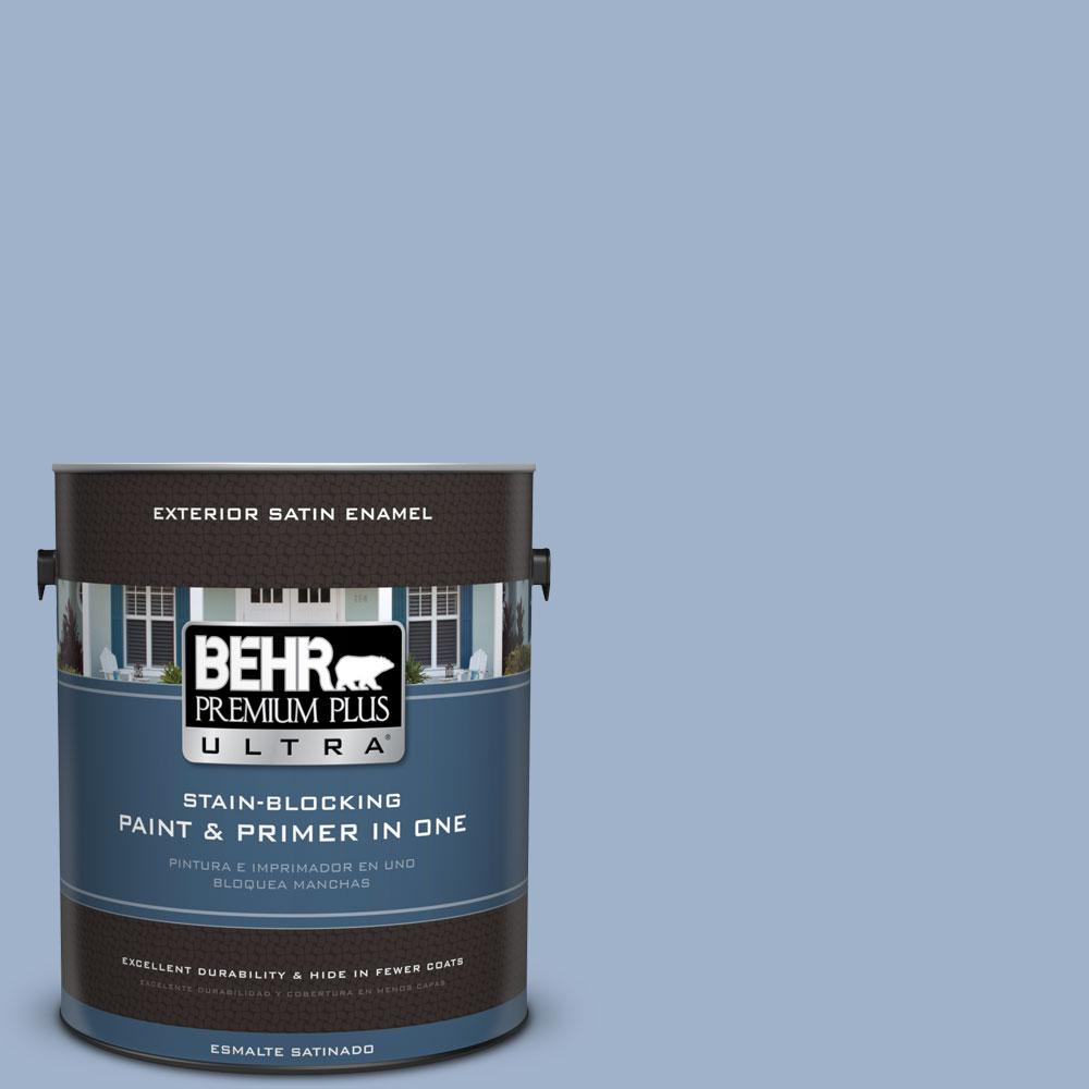 BEHR Premium Plus Ultra 1-gal. #S530-3 Aerial View Satin Enamel Exterior Paint