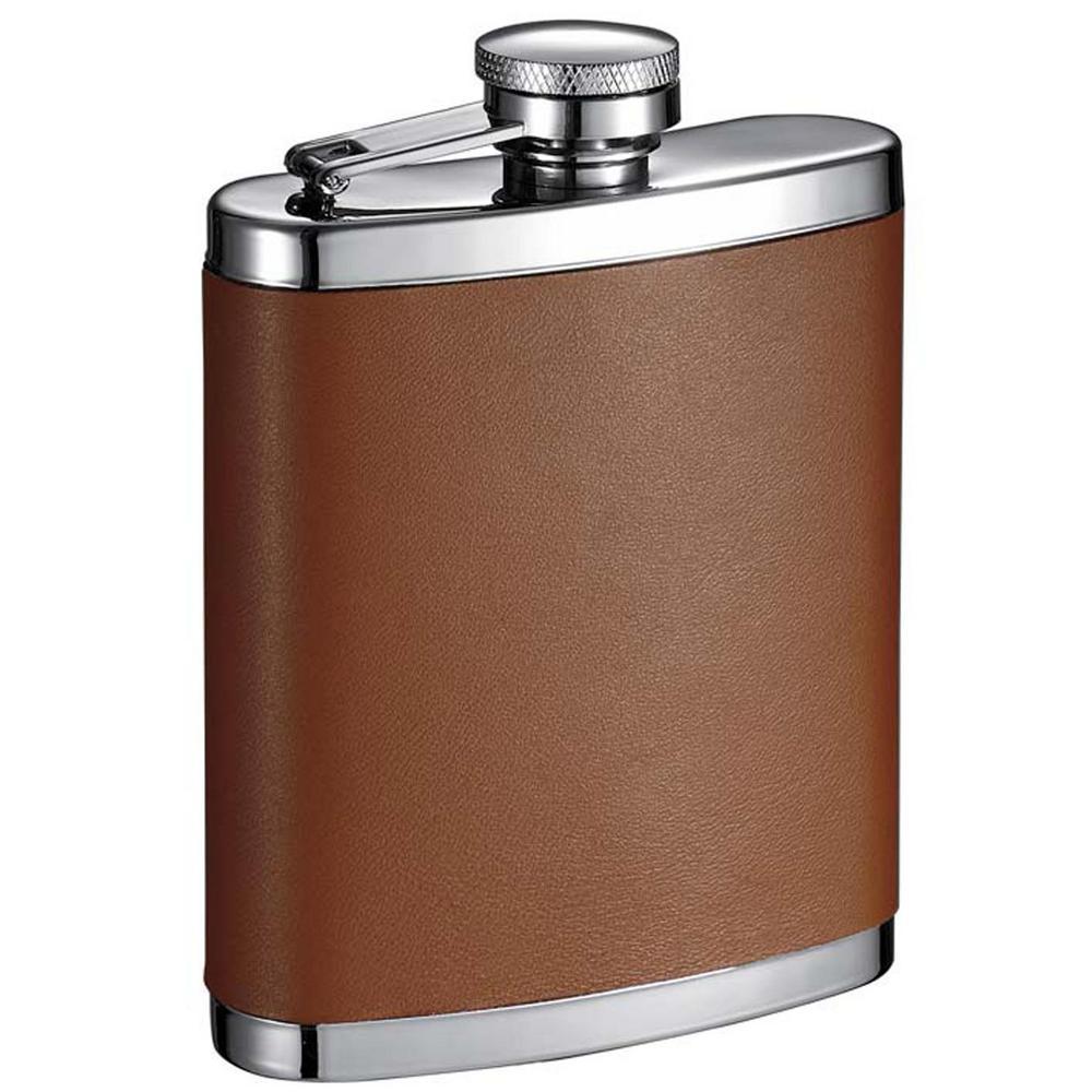 visol robert brown leather liquor flask vf6015 the home depot