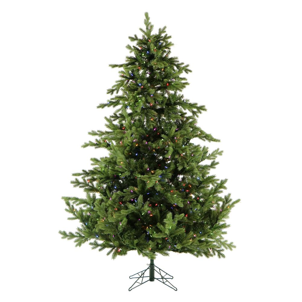 promo code 2ef92 a98dd Fraser Hill Farm 9 ft. Pre-Lit LED Foxtail Pine Artificial Christmas Tree  with 1250 Multi-Color String Lights