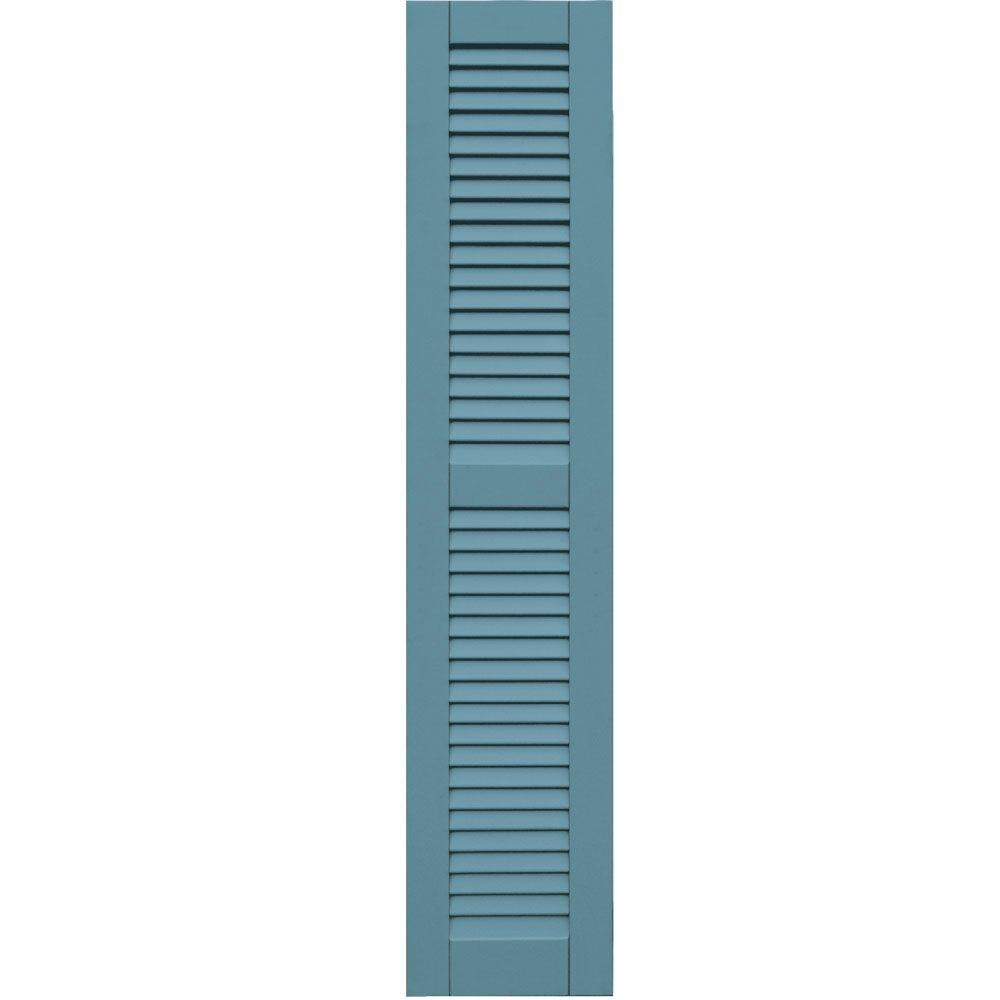 Winworks Wood Composite 12 in. x 58 in. Louvered Shutters Pair #645 Harbor