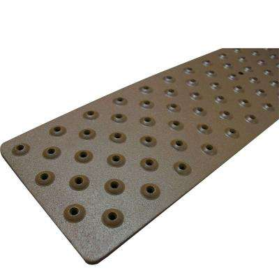 3.75 in. x 30 in. Non Slip Brown Aluminum Tread