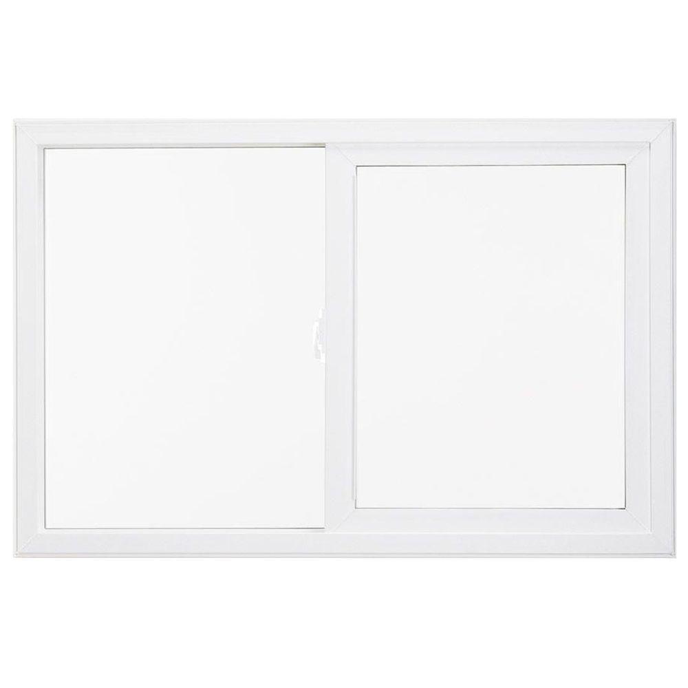 JELD-WEN 47.5 in. x 47.5 in. V-4500 Series Left-Hand Sliding Vinyl Window - White