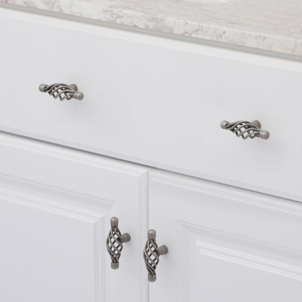 Amerock Village Classics 2 5 8 In Weathered Nickel Birdcage Cabinet Knob Bp19321wn The Home Depot