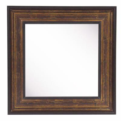 32.75 in. x 32.75 in. Bronze and Black Square Vanity Wall Mirror