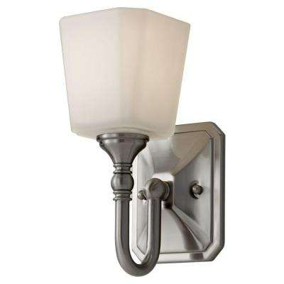 Concord 4.625 in. W. Brushed Steel Vanity Light