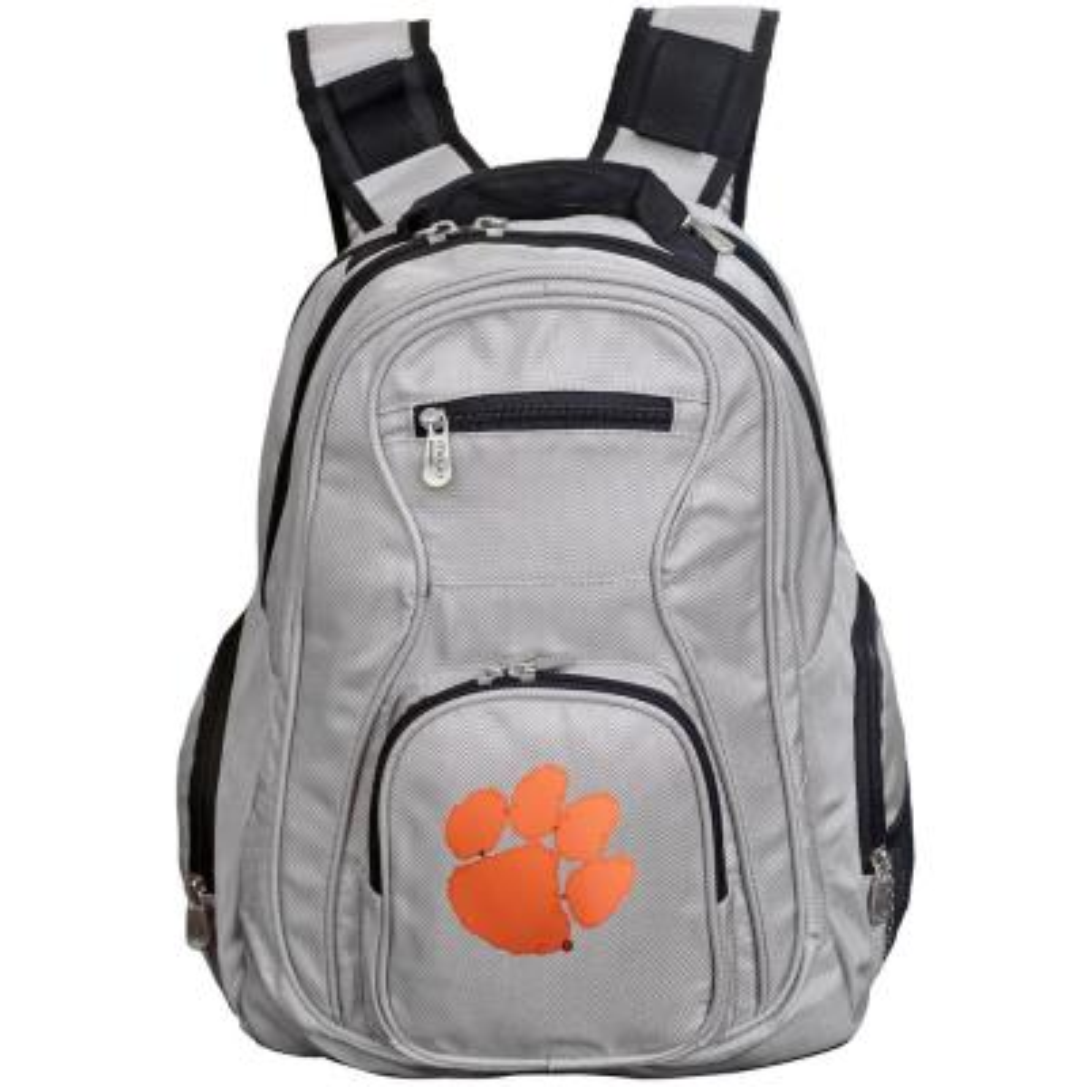 Denco NCAA Clemson Tigers 19 in. Gray Laptop Backpack