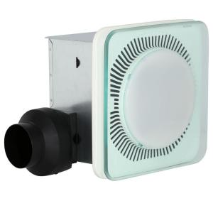 Bathroom Exhaust Fan With Led Light nutone 100 cfm ceiling exhaust bath fan with soft surround led