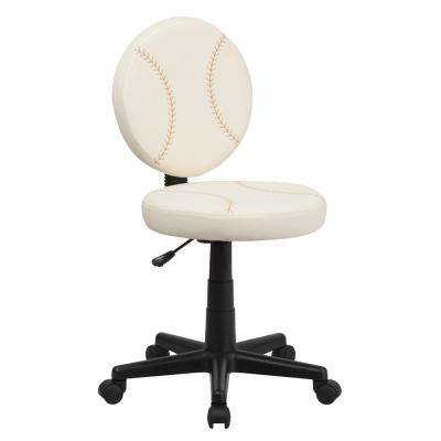 Baseball Cream Task Chair