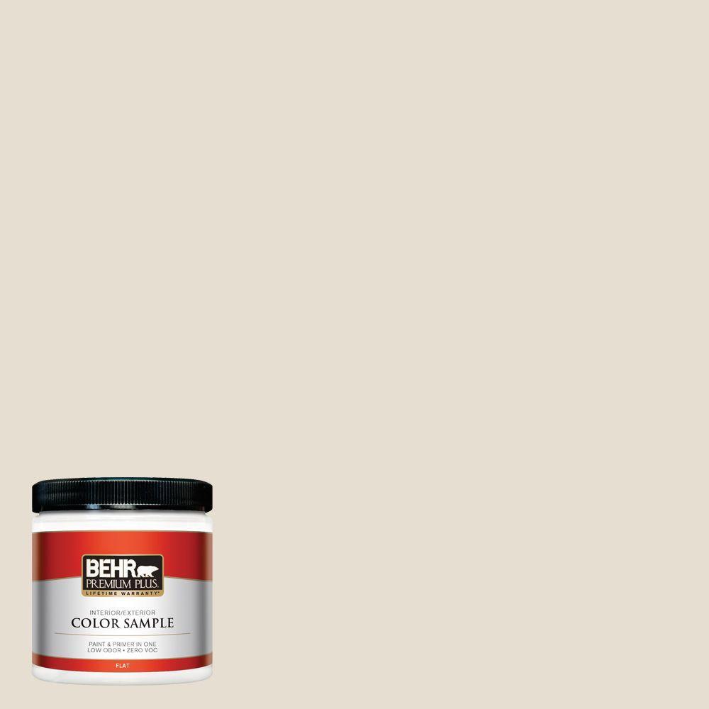 BEHR Premium Plus 8 oz. #750C-2 Hazelnut Cream Interior/Exterior Paint Sample