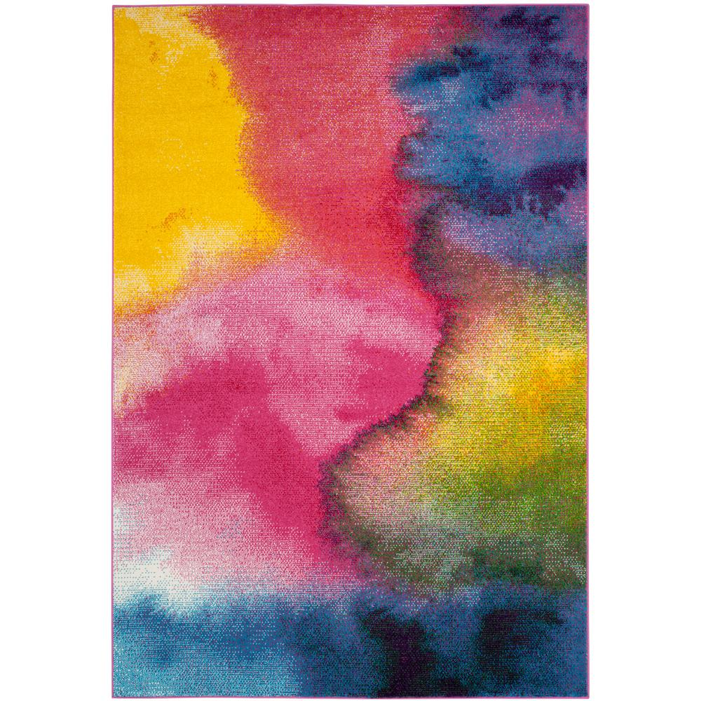 Safavieh Watercolor Green/Fuchsia 6 Ft. 7 In. X 9 Ft. Area
