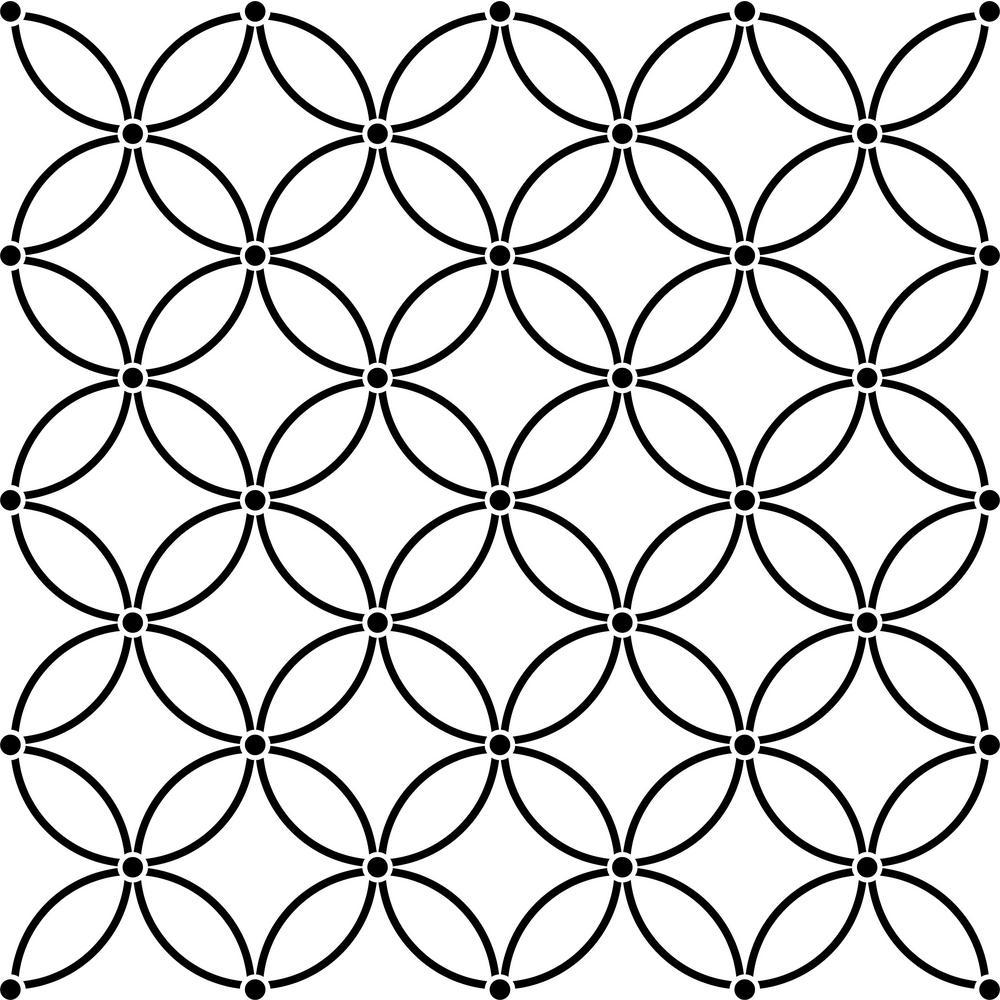 Geometric Triangle Wall and Floor Stencil Laser Cut Cute Stencils