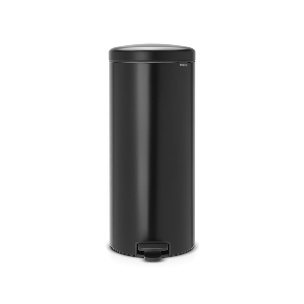 8 Gal. Matt Black Steel Step-On Trash Can