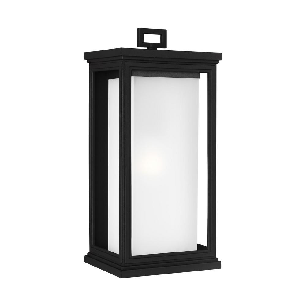 Roscoe 1-Light Outdoor Textured Black Post Lantern