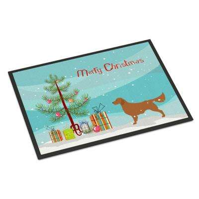 24 in. x 36 in. Indoor/Outdoor Golden Retriever Merry Christmas Tree Door Mat