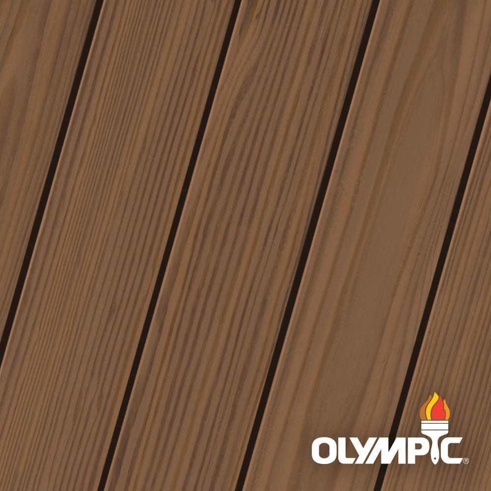 Olympic Elite 8-oz. Clove Brown EST932 Semi-Transparent Exterior Stain and Sealant in One Low VOC