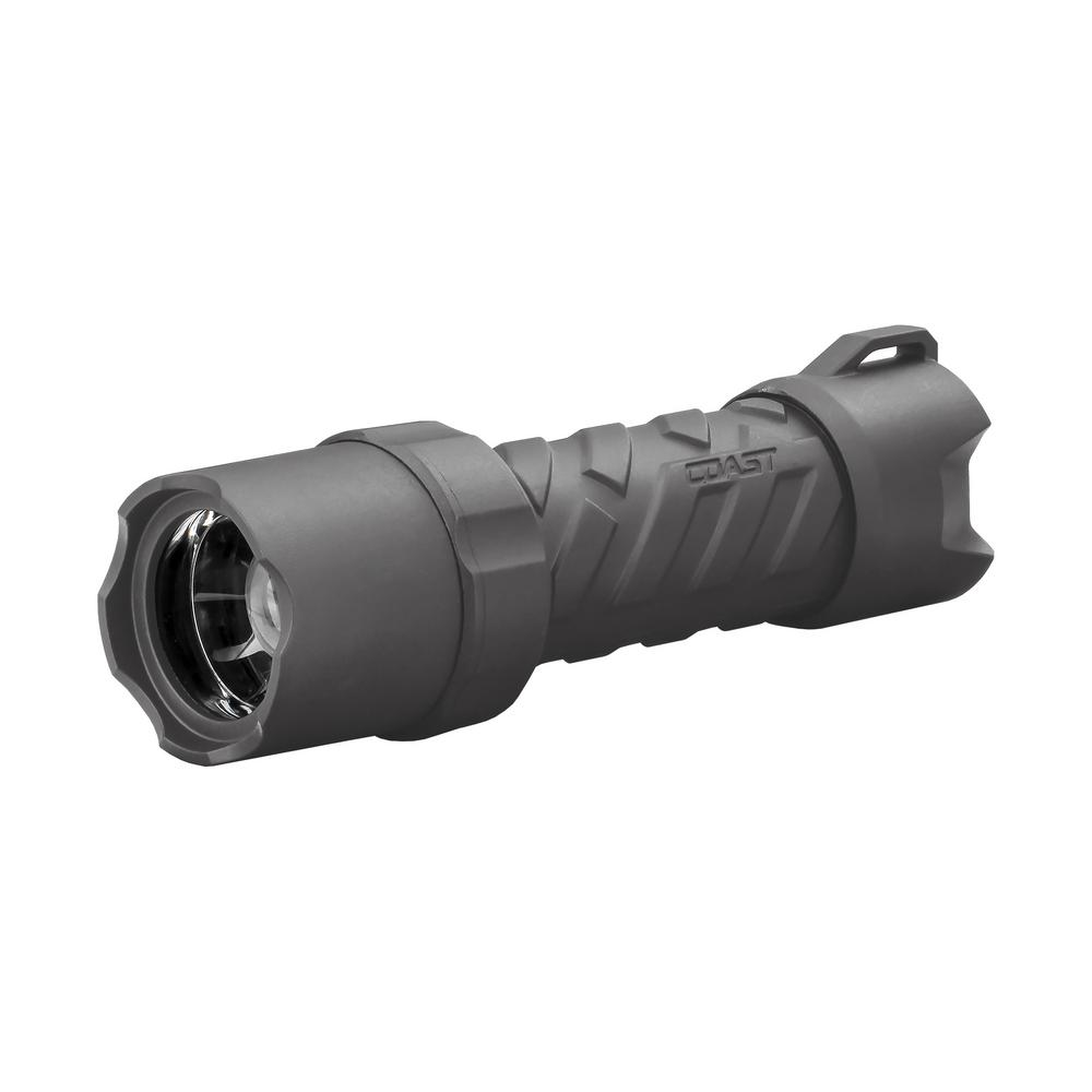 Coast Coast Polysteel 400R 400 Lumen Rechargeable Waterproof LED Flashlight with Twist Focus, Gun metal