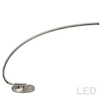 19 in. Satin Chrome Integrated LED Table Lamp