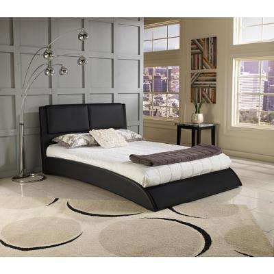 Rest Rite Willow Bend Black Queen Upholstered Platform Bed Frame Foundation